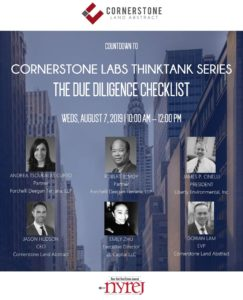 NYC Environmental Consultant at Cornerstone event