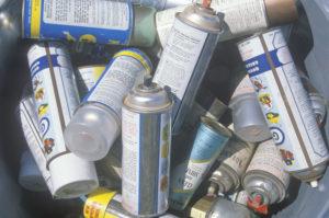 waste aerosol cans image for 2020 RCRA update